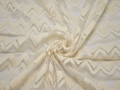 Гипюр молочного цвета зигзаг шерсть полиэстер БВ427