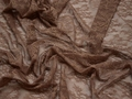 Гипюр коричневый цветы полиэстер эластан БВ49