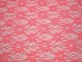 Гипюр коралловый цветы полиэстер БВ470