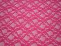 Гипюр розовый цветы полиэстер БВ572