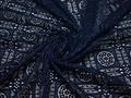 Гипюр синий геометрия полиэстер эластан БВ562