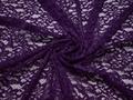 Гипюр фиолетовый цветы полиэстер эластан БВ536