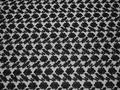 Гипюр черный цветы полиэстер БВ586