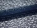 Гипюр синий цветы полиэстер БВ531