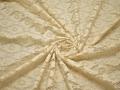 Гипюр желтый цветочный узор хлопок БВ525