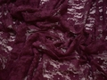 Гипюр сиреневый цветы полиэстер эластан БВ516