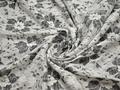 Гипюр белый серый цветы полиэстер БВ510