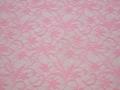 Гипюр розовый узор полиэстер эластан БВ515