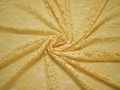 Гипюр желтый цветы полиэстер БВ57