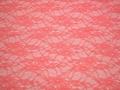 Гипюр коралловый цветы полиэстер эластан БВ548