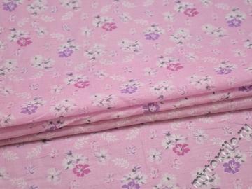 Хлопок с розовым цветочным принтом ББ124