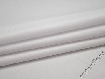 Плательная белая фактурная ткань полиэстер эластан БГ198