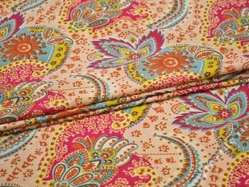 Плательная ткань цветы узор полиэстер ББ255