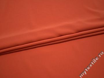 Плательная оранжевая ткань полиэстер БА444