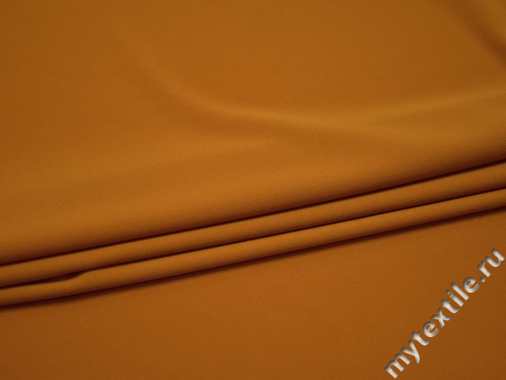 Плательная оранжевая ткань полиэстер эластан БА436