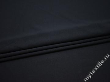 Плательная синяя ткань полиэстер БА428