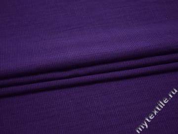 Хлопок с эластаном фиолетовый полоска БА434