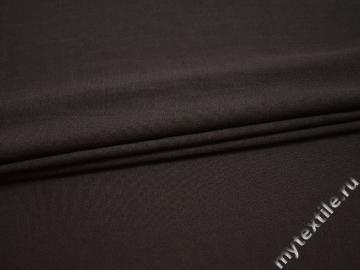 Плательная коричневая ткань полиэстер БА422