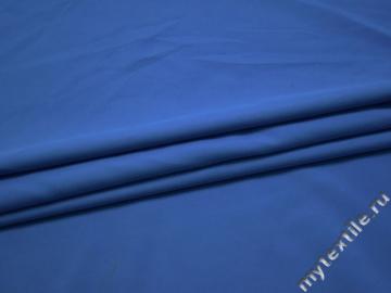Плательная синяя ткань полиэстер БА423