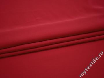 Плательная малиновая ткань полиэстер БА421