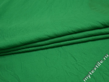Плательная зеленая ткань вискоза полиэстер БА411