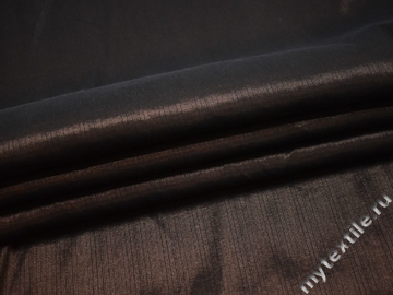 Плательная коричневая фактурная ткань вискоза полиэстер эластан БА410