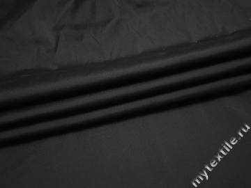 Плательная черная ткань полиэстер эластан БА49