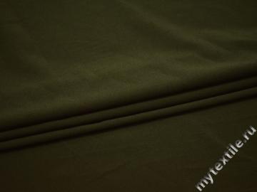 Плательная зеленая ткань полиэстер эластан БА43
