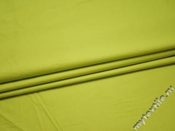 Хлопок салатового цвета с эластаном БВ238