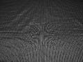 Рубашечная черная серебряная ткань полоска хлопок эластан БГ192