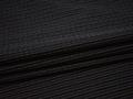 Рубашечная черная ткань фиолетовая полоска хлопок полиэстер БГ1101
