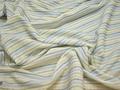 Рубашечная белая ткань синяя полоска полиэстер БГ190