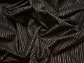 Рубашечная коричневая ткань полоска хлопок БГ187