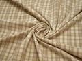 Рубашечная бежевая ткань полоска полиэстер эластан БГ180