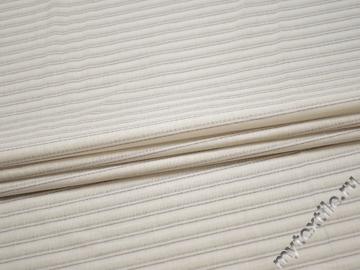 Рубашечная молочная ткань полоска хлопок БГ179