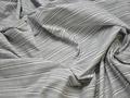 Рубашечная серая ткань полоска хлопок БГ178