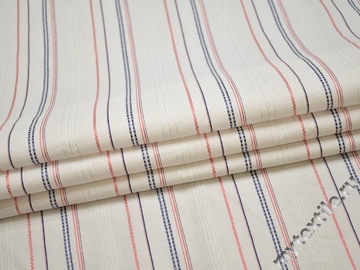 Рубашечная белая ткань полоска хлопок эластан БГ174