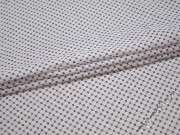 Рубашечная белая ткань узор хлопок полиэстер БГ160