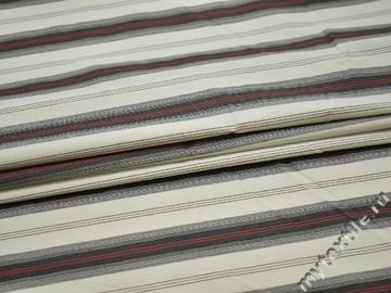 Рубашечная белая ткань полоска хлопок БГ154