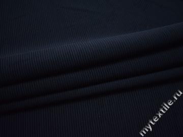 Трикотаж фактурный синий полиэстер АЁ521