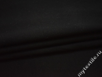 Трикотаж черный шерсть полиэстер АВ624