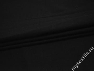 Трикотаж черный полиэстер АЖ543