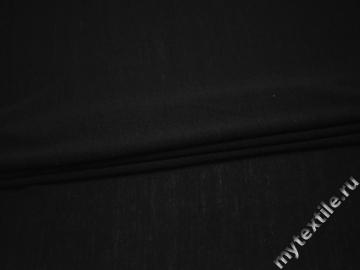 Трикотаж черный полиэстер хлопок АЖ541