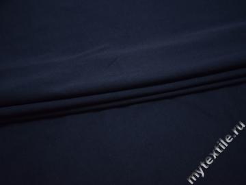 Трикотаж синий хлопок АД751