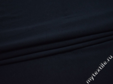 Трикотаж синий хлопок вискоза АД725