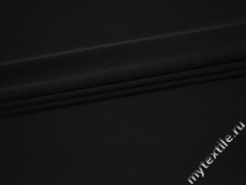 Трикотаж черный полиэстер АД746