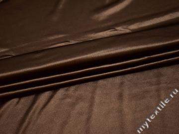 Трикотаж коричневый полиэстер АВ512