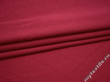 Трикотаж красный хлопок АД35
