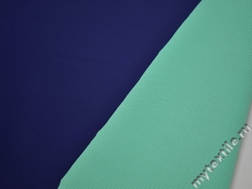 Неопрен синий бирюзовый полиэстер эластан АБ650