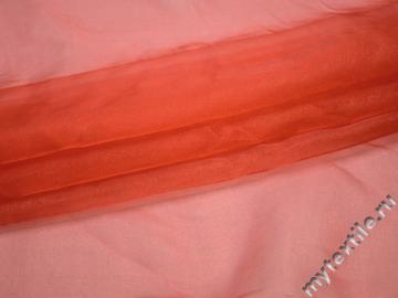 Органза красного цвета полиэстер ГВ552